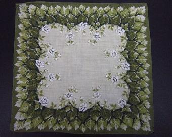 Vintage Handkerchief Leaf/Floral Design (vh167)