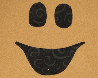 Handmade Ghost Face Applique, Ghost Face Halloween appliques, fabric appliques, Iron on sew on