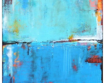 Abstract blue Painting PRINT
