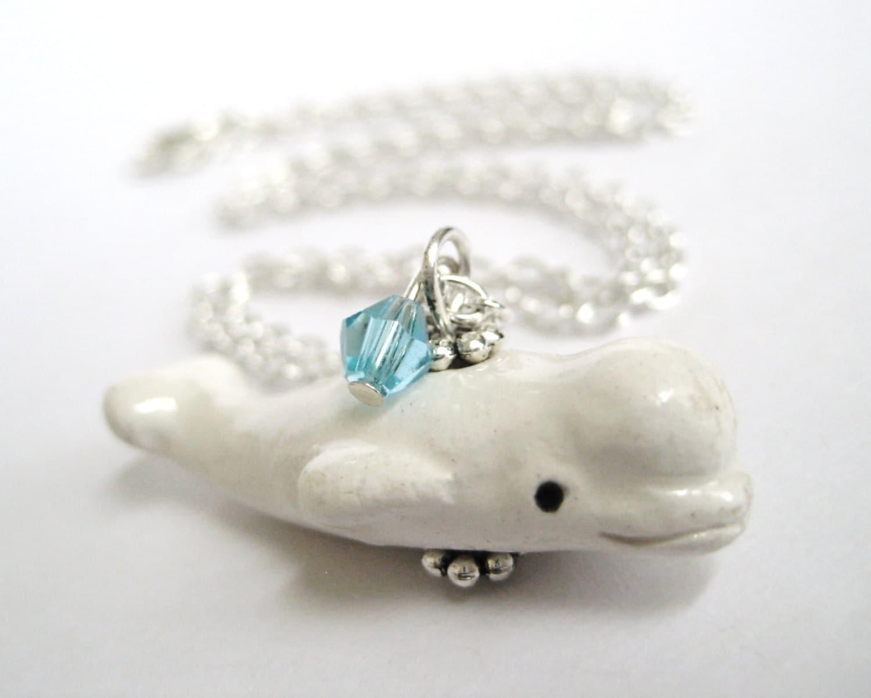 baby beluga whale jewelry beluga necklace whale pendant
