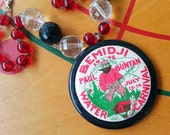 Paul Bunyan Water Carnival - Upcycled Vintage 1946 Bemidji Pinback Button Necklace