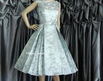 Betty - Vintage Style Tea Length Wedding Dress. Available in other colors.