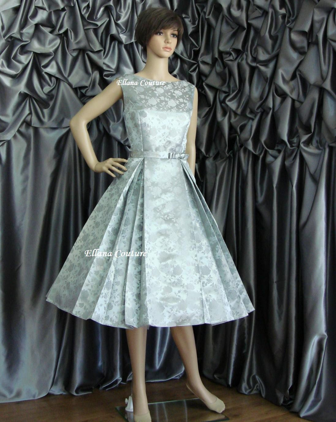 Betty vintage style tea length wedding dress available in for Retro tea length wedding dresses