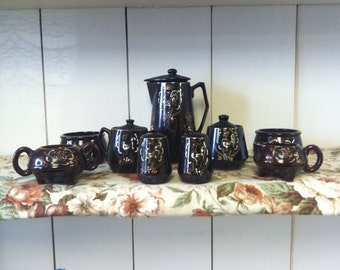 Moriage Redware  11 Piece Mixed Set