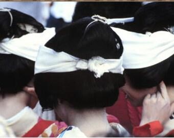 The Three Geishas Photo By Christine Dellosso 8 x 10 Red Lacquer Frame Circa 1980