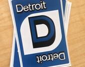 Detroit Uno Sticker
