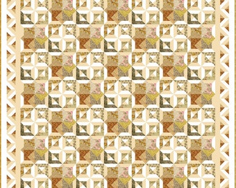 """GARDEN OF EDEN - 106"""" - Quilt-Addicts Precut Patchwork Quilt Kit or Finished Quilt King size"""