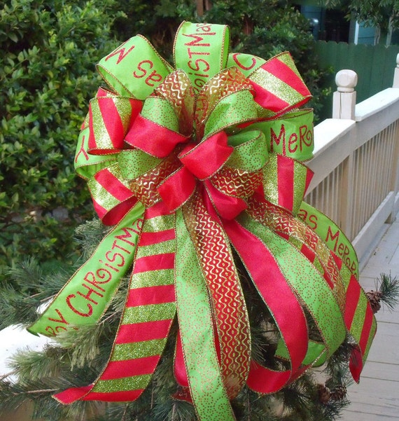 Christmas wreath bow tree bows swag for wreaths