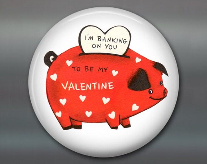 "3.5"" vintage valentine magnet valentine fridge magnet valentine day gift large magnet school valentine card MA-1363"
