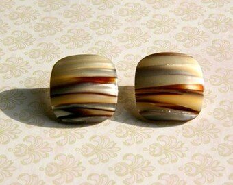 CLEARANCE! Square shell post earrings