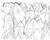 Abstract Drawing print #673