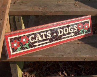 Custom Mosaic Sign / Plaque - Office Signs - Indoor or outdoor - Veterinary