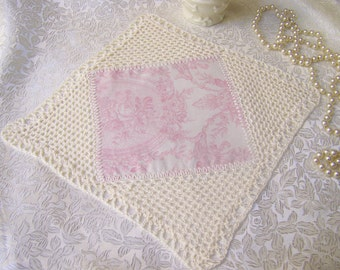 Victorian Lace Centerpiece, Lace Doily, Crochet Table Topper, Cream, French Rose,