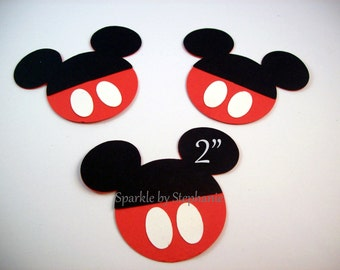 """Mickey Mouse Die Cuts - Mickey Head with Pants - 2"""" - Set of 12+"""