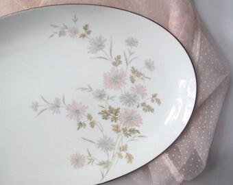 Vintage Serving Platter Noritake Barbara Pastel Floral