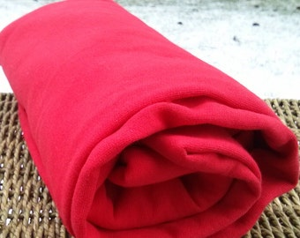 Bamboo Jersey Fabric Red for Christmas Outfits