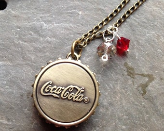 Soda Antiqued Bronze Pocket Watch with Swarovski Crystals