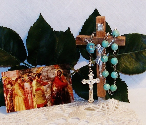 """Unbreakable Wire-Wrapped Historical Replica """"Memento Mori"""" One-Decade Rosary"""