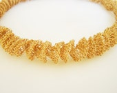 Reserved to Rizwan Lakhani - Rose Gold Statement Necklace, Unique Wedding Necklace, Gold Bridal Necklace, Chunky Gold Necklace