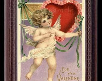 Be My Valentine Miniature Dollhouse Valentine's Day Art Picture 6825