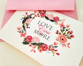 Valentine's Day Card, Love,  Anniversary Cards, Wedding Cards, Set of 8