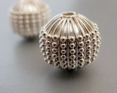Bali Sterling Silver Round Bead Dots 13mm
