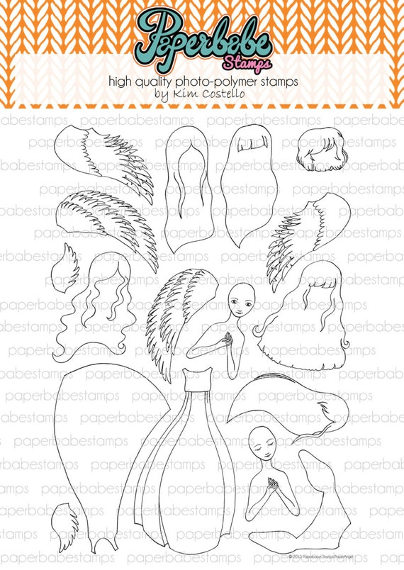 Paperangel - Paperbabe Stamps - Clear Photopolymer Stamps - For paper crafting and scrapbooking.
