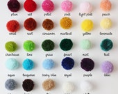 Yarn Pom Poms (quantity and colors of your choice)