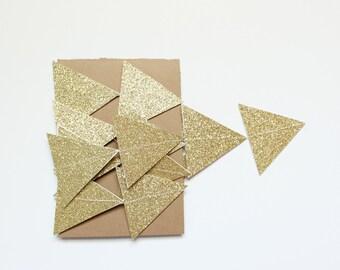 gold glitter triangles garland