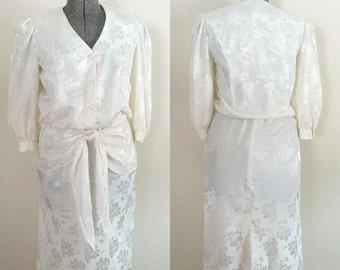 Antique White Vintage Dress Diane Von Furstenberg Designer Fashion Second Time Bride