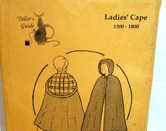 Ladies Kinsale Cape Hooded Tailor's Guide Pattern