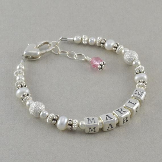 baby girl bracelets sterling silver keepsake baptism gifts