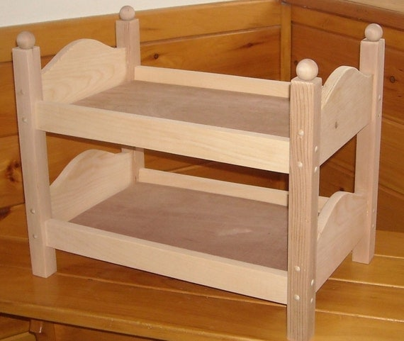 Hand Made Beds ~ Handmade bunk bed for inch doll