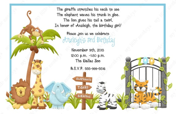 Zoo Birthday Invitations correctly perfect ideas for your invitation layout