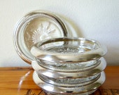 Vintage Coasters - Silver & Glass - Leonard Italy {Set No. 2}
