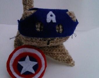 Captain America Avengers Cat Plush Toy