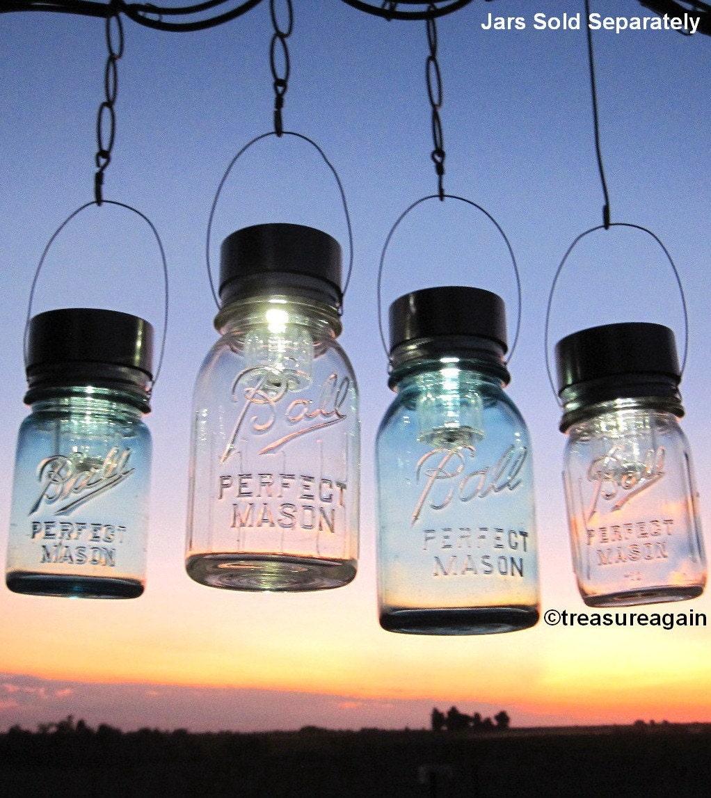 mason jar lighting hanging mason jar solar light lids 4