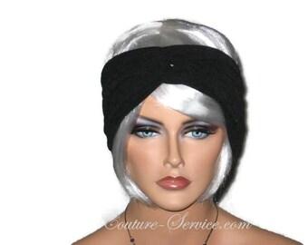 Black Turban Headband, Women's Black Turban Handmade Black Turban, Black Fashion Turban, Bandeau Headband, Twist, Turbin, Half Turban