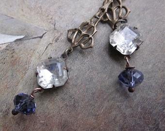 vintage lilac dangle - the lyla earrings
