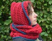 Crochet pattern : fairy hooded cowl