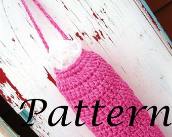 Instant Download - Grocery Bag Holder Crochet Pattern - May sell finished product