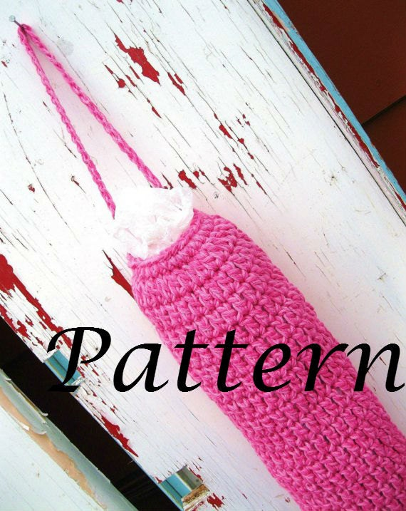 Crochet Pattern For Grocery Bag Dispenser : Instant Download Grocery Bag Holder Crochet by ...