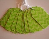 Limeade Glittered Chevron Gift Tags (10)