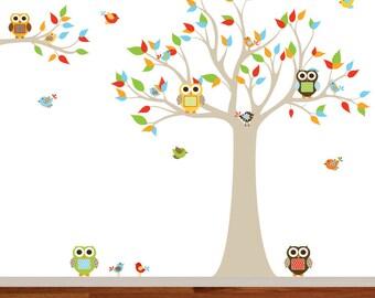 Wall Decals Nursery - Nursery wall decal - Owl Tree Wall Decal. Boy Wall Decal Tree. Nursery Decals - Tree