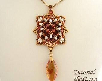 Tutorial Astrid Pendant - Instant download, Beading pattern,Jewelry Tutorial, Ellad2