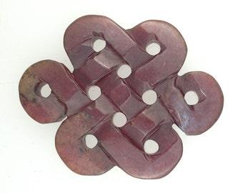 Carved Stone Knot Medallion (E3722)