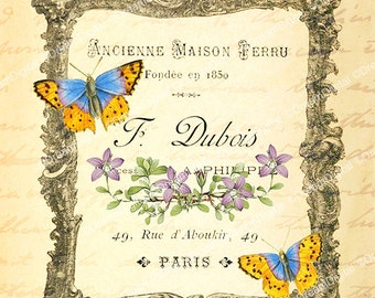 French Ephemera Printable Image Paris Ad Download and Print Design