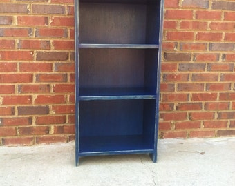 "Distressed  Bookcase Storage Shelf  Handmade   35"" x 23"" x 9 1/2"""