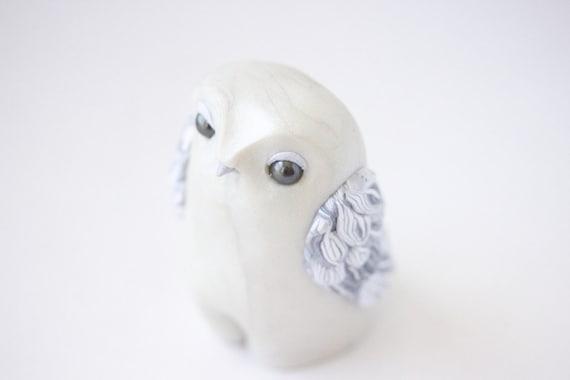 White Owl Figurine by Bonjour Poupette