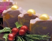 Merry and Bright Handmade Cold Process Soap Bar Christmas Holiday Gift